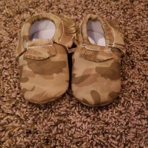 Other - Tan camo moccasins